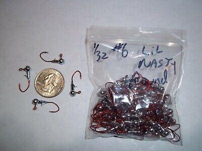 RED 100ct 1//4oz #1//0 ROUND LEAD HEAD JIG MATZUO