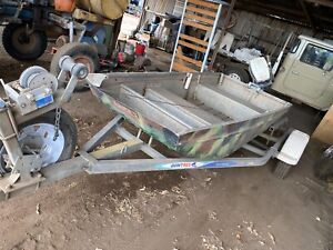 Punt and trailer for sale
