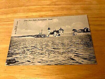 Provincetown MA Mass LONG Point Light, lighthouse PC 1907