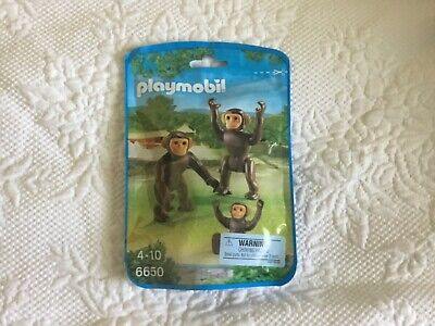 PLAYMOBIL 6650 Chimpanzee family Building Toys ages 4-10- sealed bag