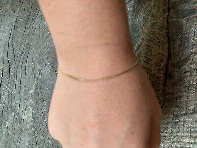 Vintage 14K Yellow Gold S or Serpentine Link 7.0 inch Serpentine Bracelet Italy ()