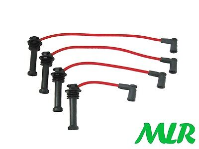 FORD FIESTA ZETEC S FOCUS FUSION PUMA RED 8MM SILICONE IGNITION HT LEADS BDA
