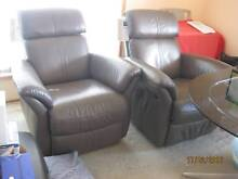 JANDA Leather Recliner 2 pieces Lutana Glenorchy Area Preview