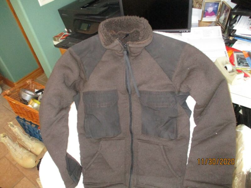 LARGE US GI Military Cold Weather Brown Bear Jacket Fleece Lined Tennier LARGE