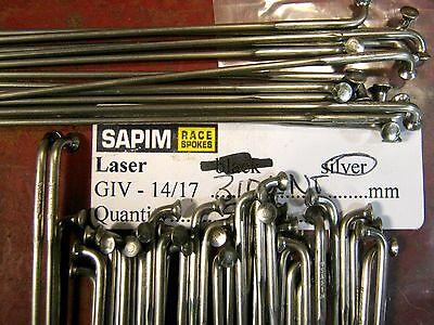 SAPIM D-LIGHT Spokes Black 2.0//1.65mm Dbl Butt STRAIGHT-PULL *Any Qty**Any Size*