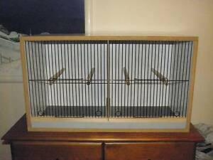 canary  double breeding cabinet with removable divider Hinchinbrook Liverpool Area Preview