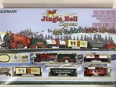 BACHMANN TRAINS Jingle Bell Christmas Express Train Set BAC724 Open Box