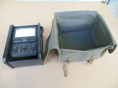 Simpson Model 260 Volt Ohm Vom Meter Multimeter W Case Canvas Bag Untested
