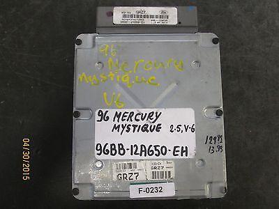 96 MERCURY MYSTIQUE 2.5L ECU  #96BB-12A650-EH F-0232 *See item description*