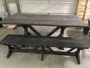 Solid Wood Handmade Harvest Style Tables