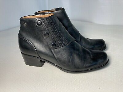 Spats, Gaiters, Puttees – Vintage Shoes Covers Ariat Spat II Black Leather Women's Bootie Ankle Boot 96305 Size 8.5 Snap Flap $34.99 AT vintagedancer.com