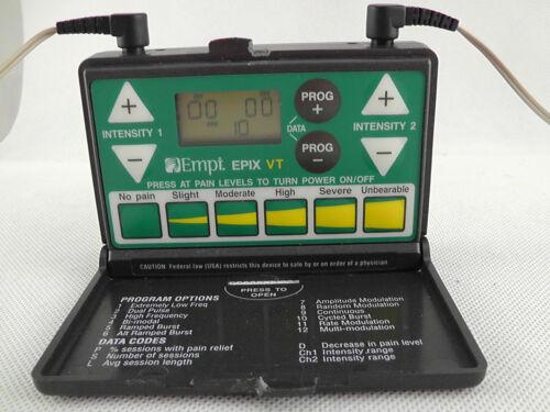 EMPI Pain Management EPIX VT Tens Unit W/cords (No battery door) Working ~H2