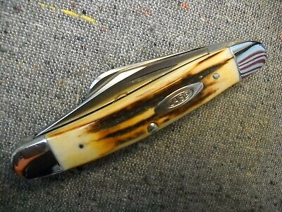 Case XX Stainless USA 4 Dot 5347 Stockman Knife India Sambar Stag1976 Razor Edge