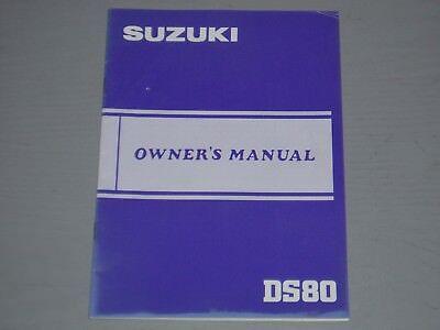 SUZUKI DS80 OWNERS  MANUAL