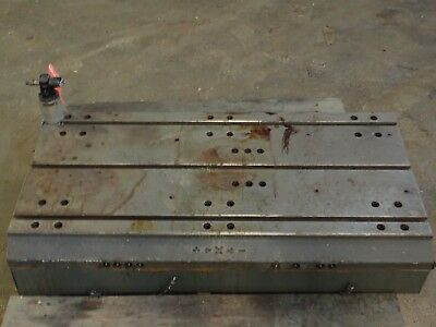 44 X 24.25 X 8.5 Steel T Slot Table Cast Iron Layout Weld Fixture3 Slot