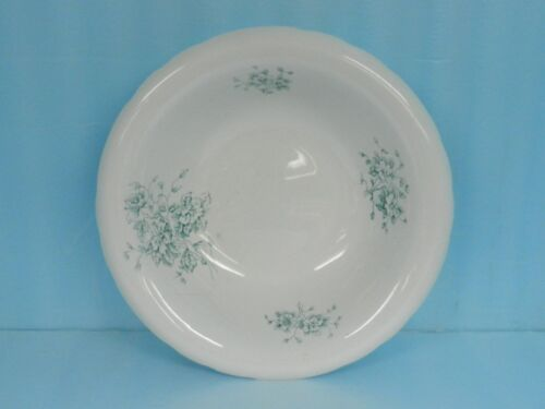 """ANTIQUE WASHSTAND BOWL LARGE 16-3/4""""Verona Pottery Co ITALY FLORAL BLUE"""