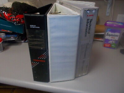 Lot Of 3 - 3 Ring Binders Used - Read Notes