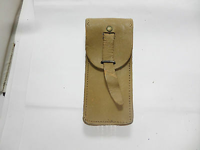 OLD  FRENCH ARMY TAN LEATHER AMMO POUCH