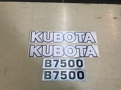 Kubota B7500 Hood Decals