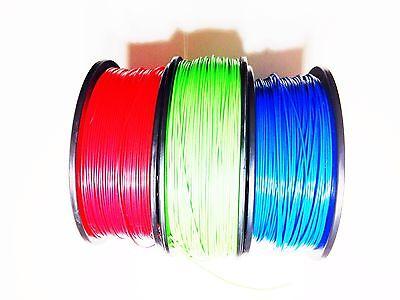 Abs 3d Printing Filament Sample Pack 3 6m Pcs Rep Rap 1.75mm Mendel