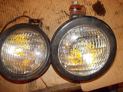 Farmall 504 560 450 300 350 Tractor Front Working 12v Head Light Lights Clamp