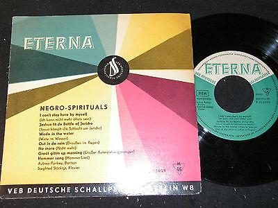 AUBREY PANKEY & SIEGFRIED STÖCKIGT Negro-Spirituals / 60s DDR SP ETERNA 530029