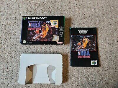 Nintendo 64 Kobe Bryant in NBA Courtside Box,manual & Insert ONLY - PAL - N64
