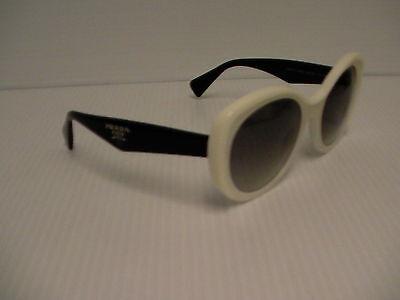 Womens PRADA Sunglasses Butterfly Black White SPR 12P 7S30A7 new