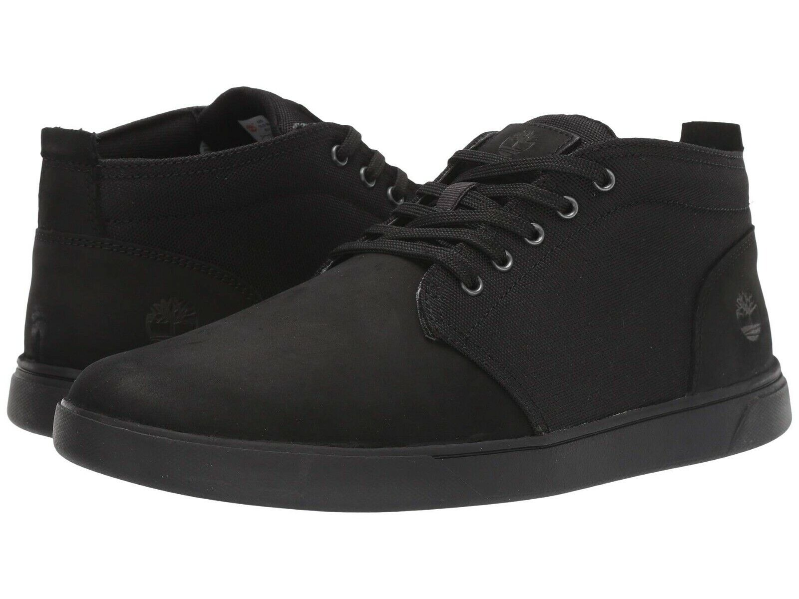 Men's Shoes Timberland Groveton Leather & Fabric Chukka Sneakers 6743A BLACK