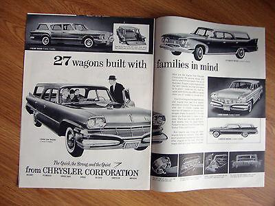 1960 Chrysler Wagons Ad Valiant Dart Plymouth Dodge