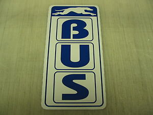 BUS Metal Sign Pharmacy Bar Greyhound Station Vintage Style Art Deco Stop Dog