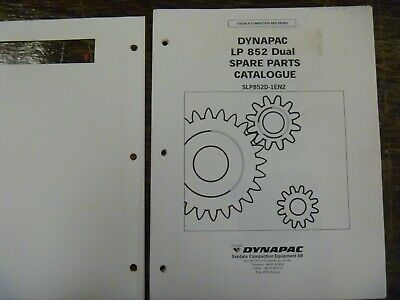 Dynapac Lp852 Vibratory Trench Compactor Roller Parts Catalog Manual