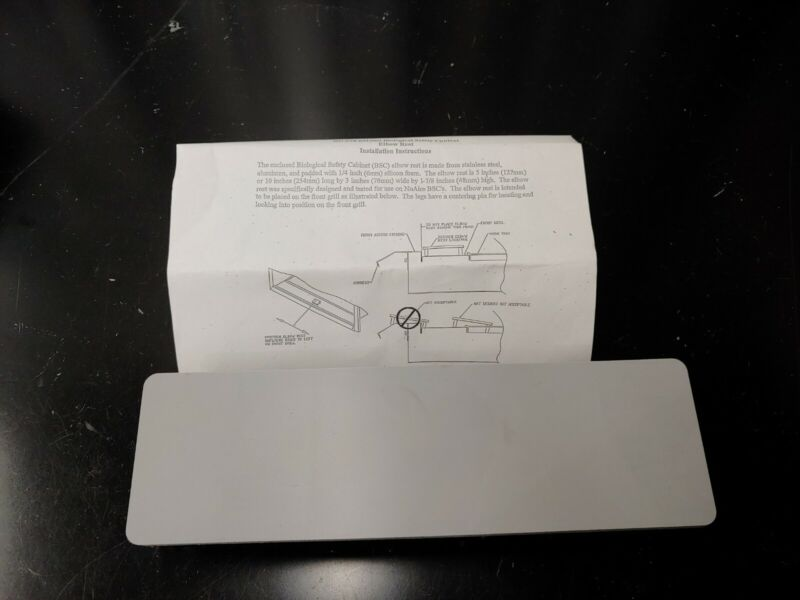 """NuAire NU-978-001/002 Biological Safety Cabinet Elbow Rest Small 5"""" Stainless"""