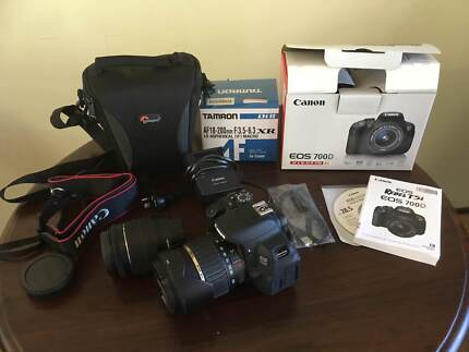 CANON EOS 700D DIGITAL SLR CAMERA AND ACCESSORIES - NEW
