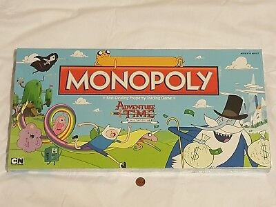 New  Read  Adventure Time Monopoly Collectors Edition Board Game Sealed
