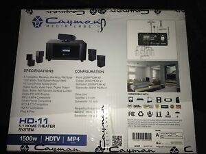 LED Projector, Screen and Surround System