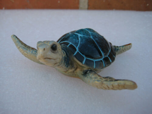 Blue Turtle Statue Figurine