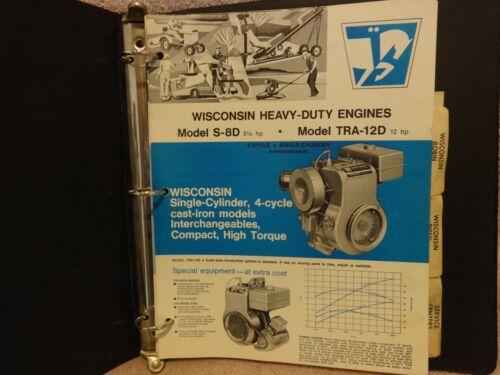 WISCONSIN HEAVY DUTY INDUSTRIAL ENGINES GENERAL SPECS. GAS, DIESEL MODELS MANUAL