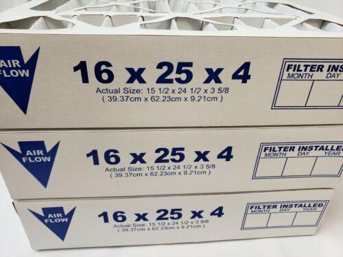FilterLot 16x25x4 MERV 8 Pleated HVAC, AC Furnace Air Filter (Pack of 3)