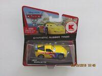 Disney Pixar CARS 2 JEFF GORVETTE Kmart Exclusive Synthetic Rubber Tires WGP