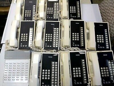Toshiba Strata Xiie Business Phone System With 10 Phones