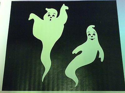 Halloween Decoration Window Clings Giant Glow in the Dark Ghosts 23 inches Tall - Dark Halloween Decorations