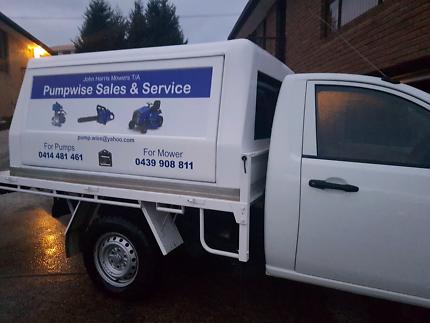 Mobile pump repairs and workshop