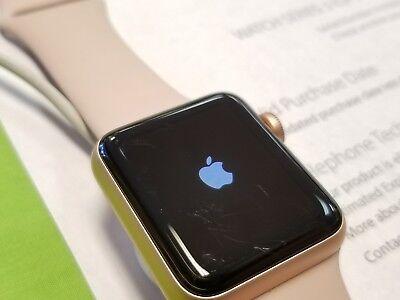 Apple Watch Series 3 Mqjq2ll A 38Mm Gold Aluminum  Gps Cell  S M Pink Sand Band