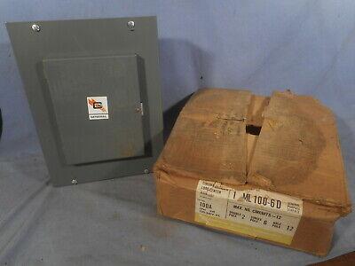 Nos Vtg General Switch Circuit Breaker Load Center 1 Ml 100-6d 100a Panel Box
