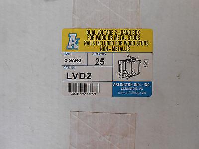 ARLINGTON LVD2 2/G DUAL-VOLTAGE 2/G BOX BOX OF 25