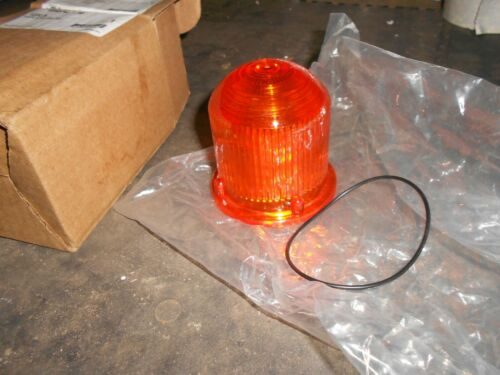 EDWARDS SIGNALING 125LA  REPLACES 104-LA Amber STROBE LENS 125 CLASS NEW