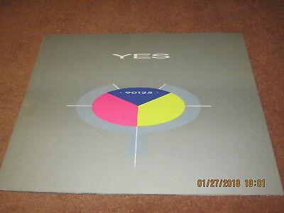 "YES 90125 Sturdy Mounted Record Store Display NEAR MINT 1983  24"" x 20""  RARE!"