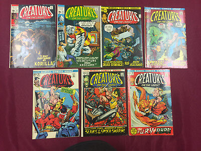 Creatures on the Loose #12-18 Run Lot 7 Bks Avg. 7.0 FN/VF Classic Horror B@@yah
