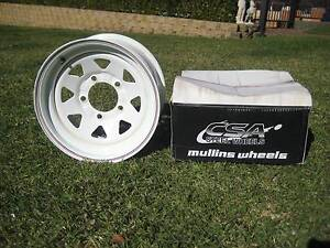 "Sunraysia Rims - White 5 Stud - 16 x 8""  and 16 x 7 ""- near new Killingworth Lake Macquarie Area Preview"